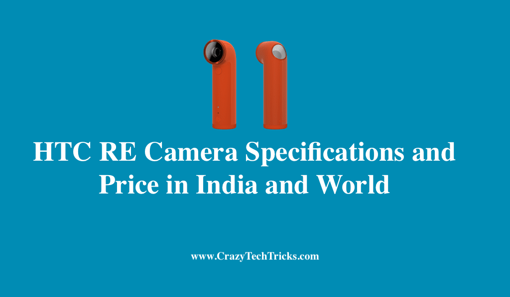 HTC RE Camera Specifications