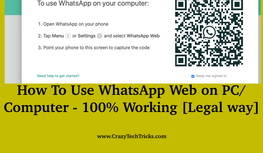 How To Use WhatsApp Web on PC Computer