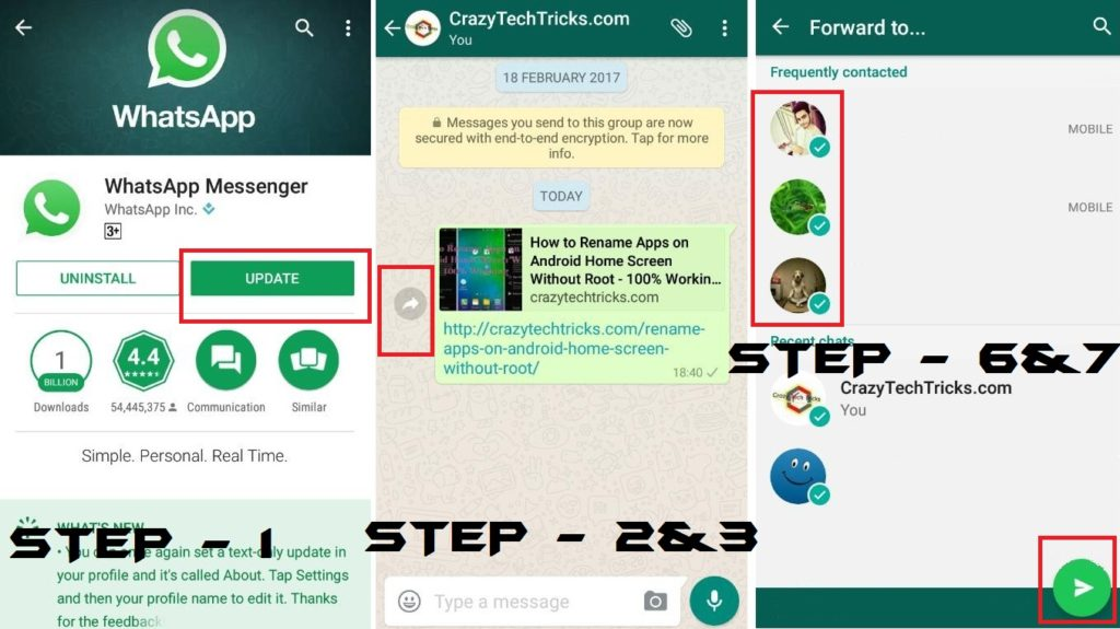 How to Send WhatsApp Message to Multiple Contacts - 100% Working