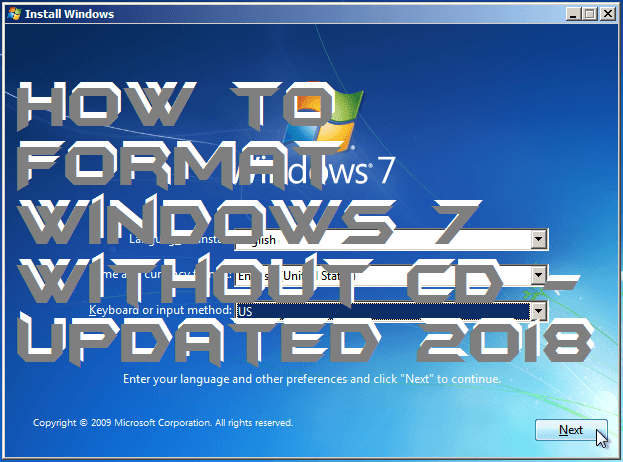 How to Format Windows 7 Without CD – Updated 2018