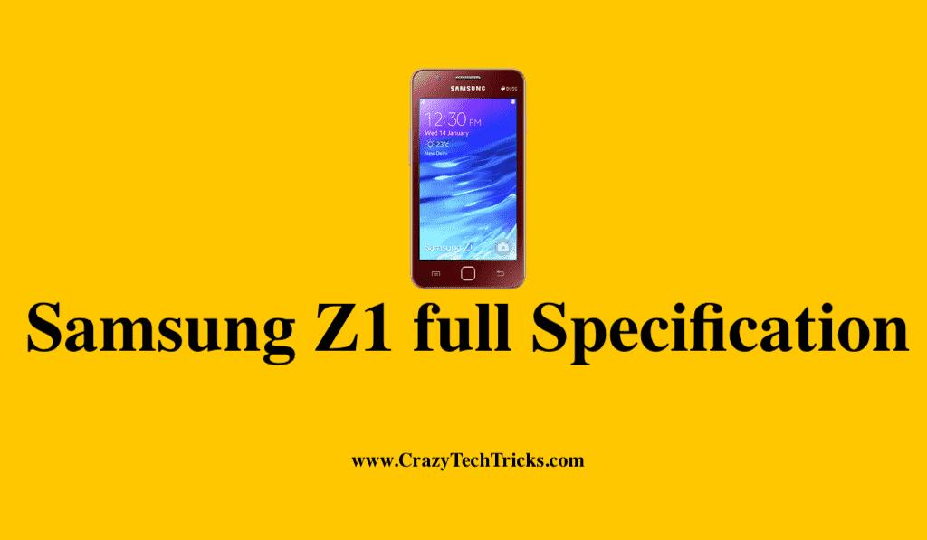 Samsung Z1 full Specification