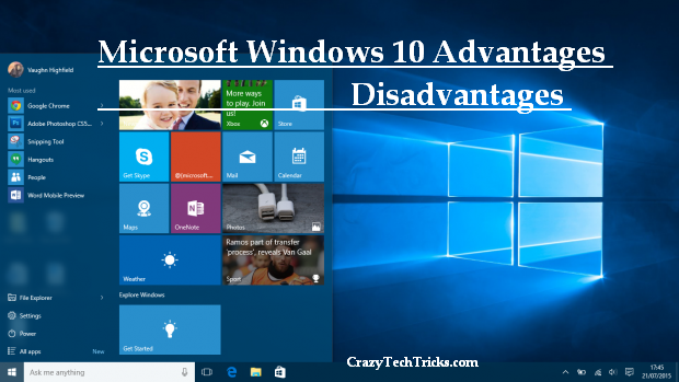 Microsoft Windows 10 Advantages Disadvantages
