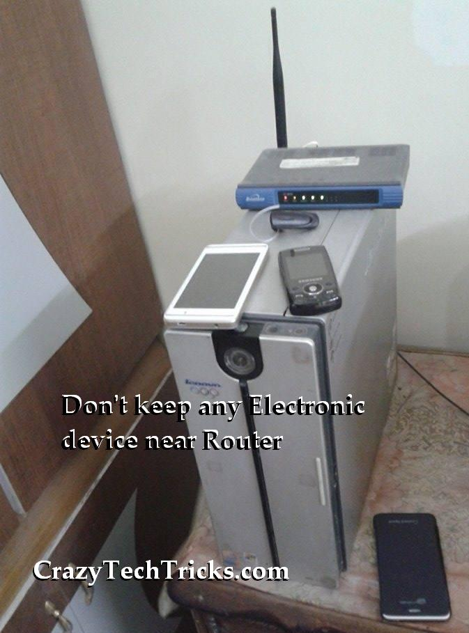 Electronic device near Router