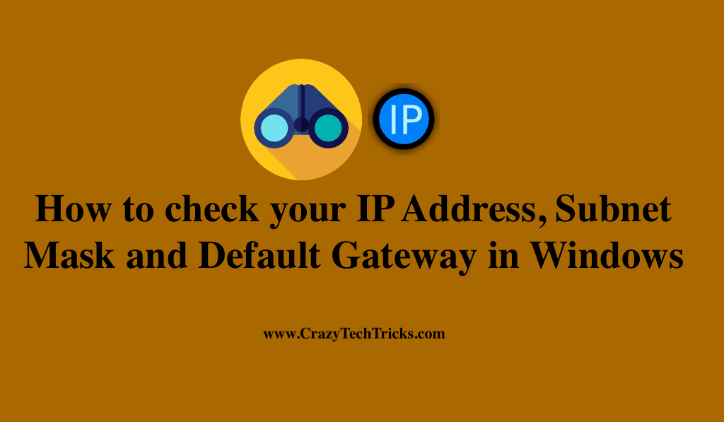 How to check your IP Address