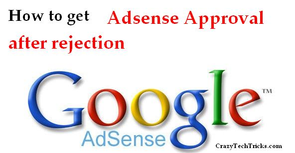 Adsense Approval after rejection