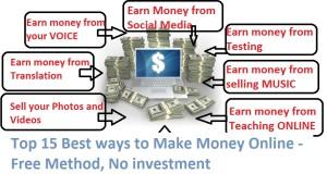 Top 10 Best ways to Make Money Online – Free Method, No investment