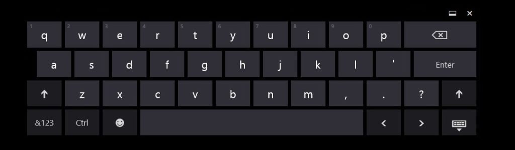 Use the On-Screen Keyboard in Windows 7, 8, 8.1 and 10