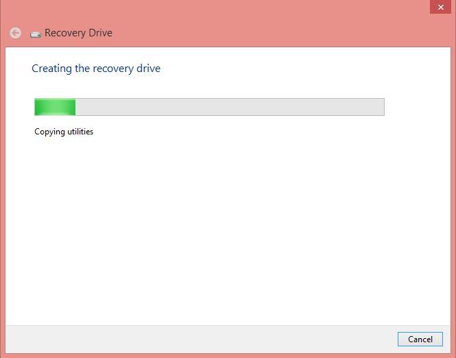 copy all your data - Create Recovery Drive in Windows 8, 8.1 and 10 using USB