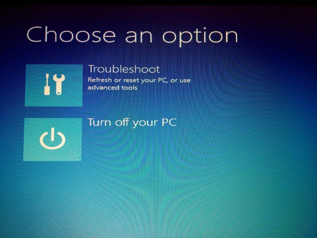 open your computer in Troubleshoot and USE Recovery Drive in Windows 8, 8.1 and 10