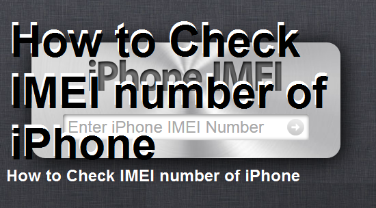 How to Check IMEI number of iPhone