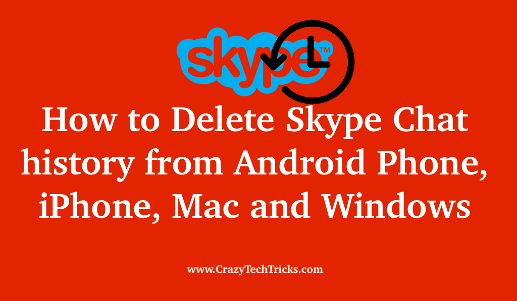 How to Delete Skype Chat History