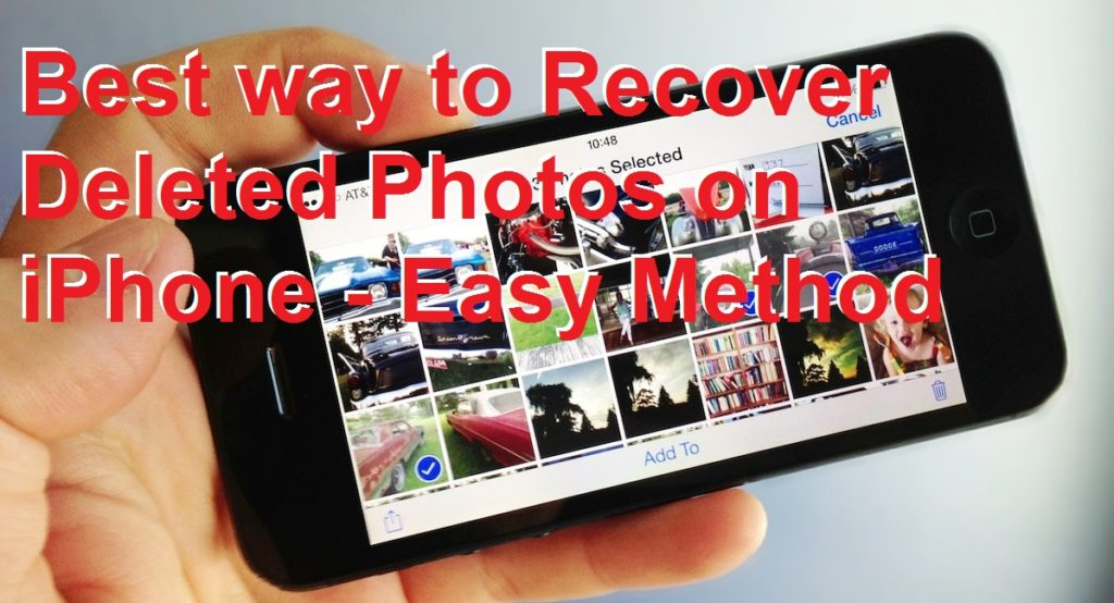 How to Recover Deleted Photos on iPhone - Easy Method
