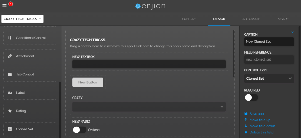 Enjion - Create your online app in few seconds