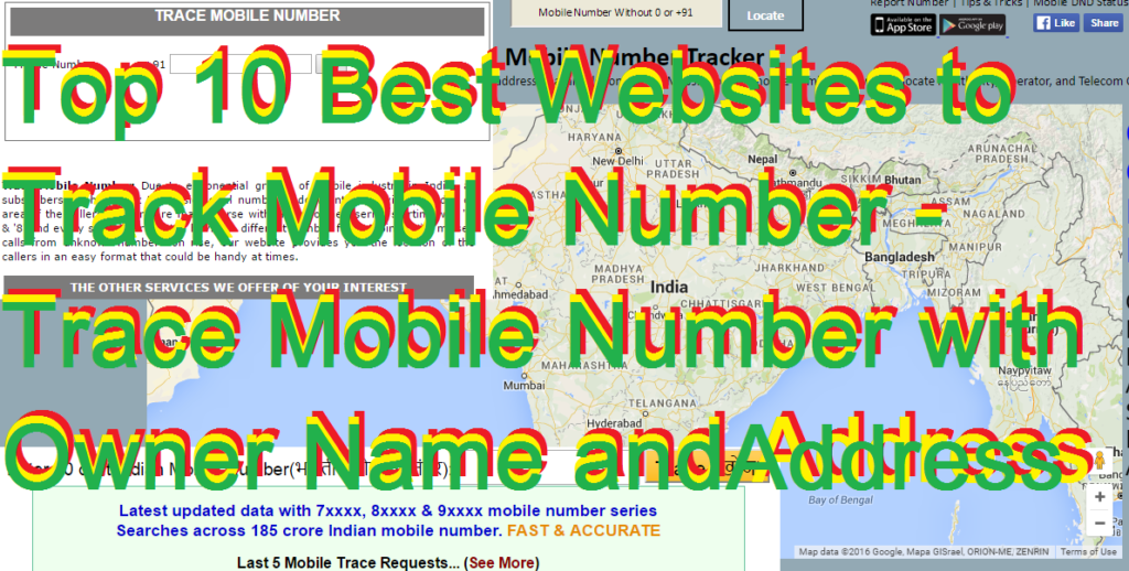 Top 10 Best Websites to Track Mobile Number - Trace Mobile Number with Owner Name and Address