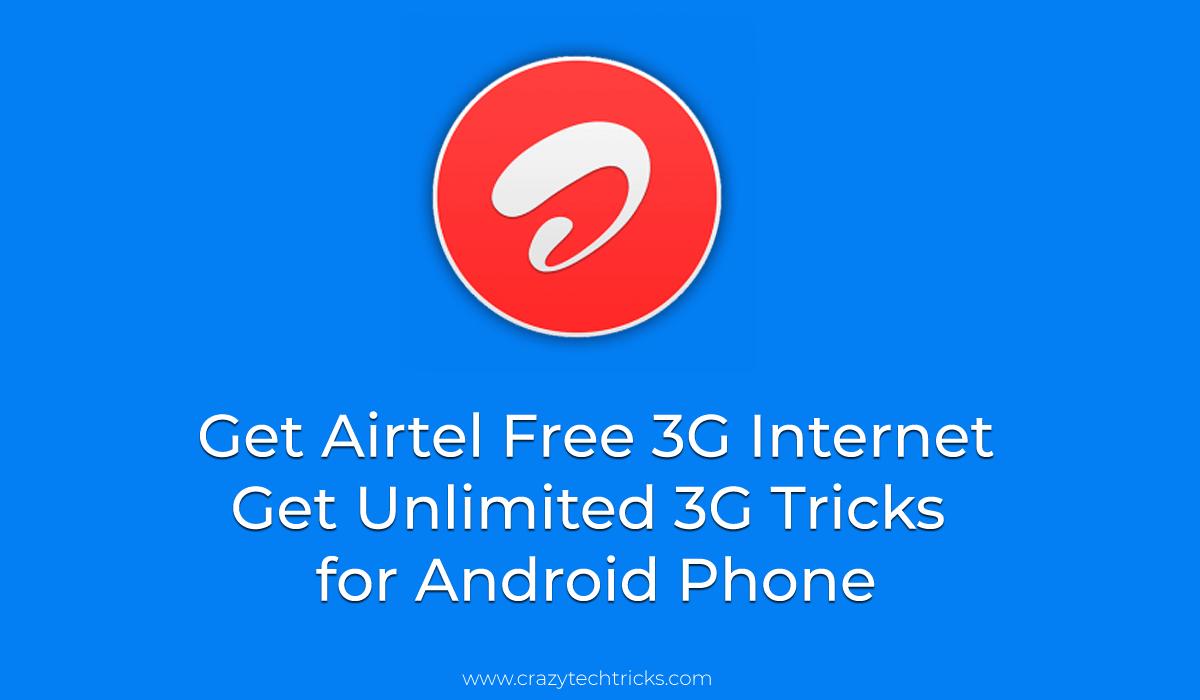 WORKING Airtel Free 3g Internet TCP-VPN Trick -   [New ...