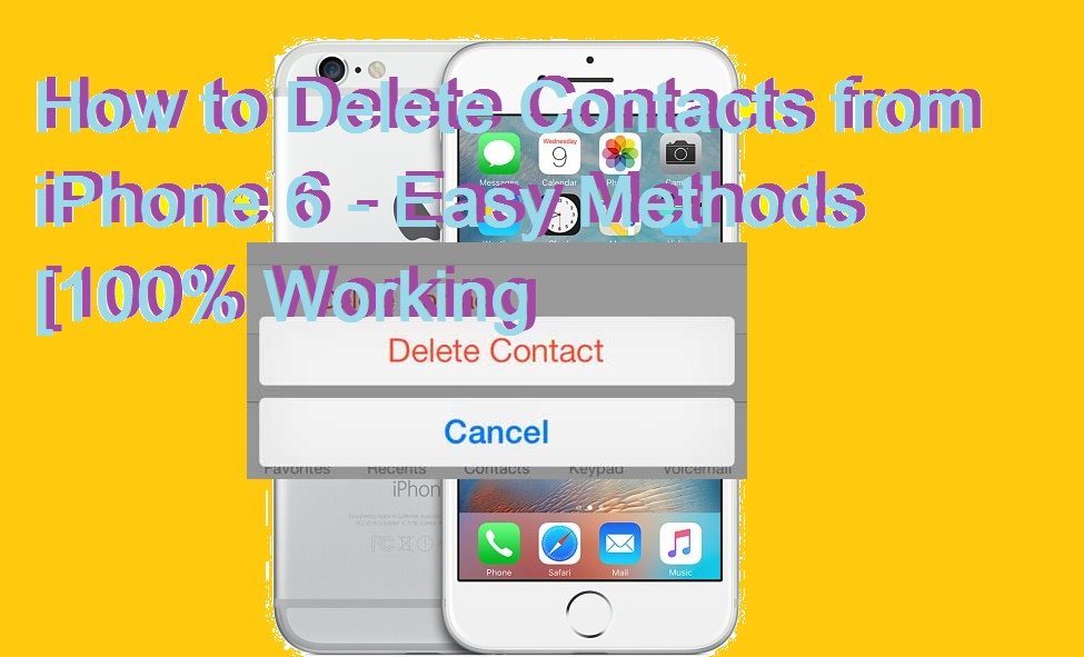How to Delete Contacts from iPhone 6