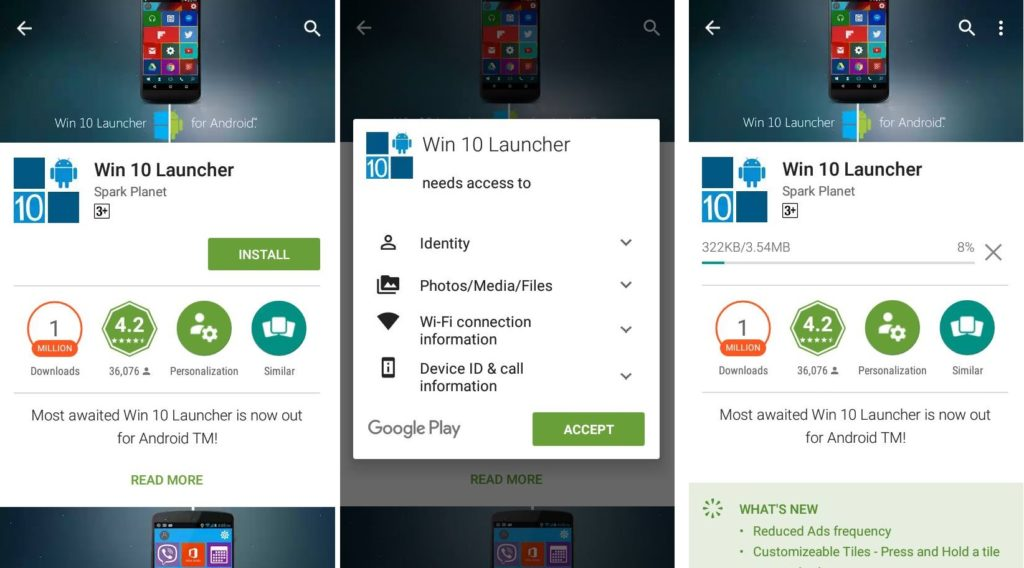 download Windows 10 launcher apk