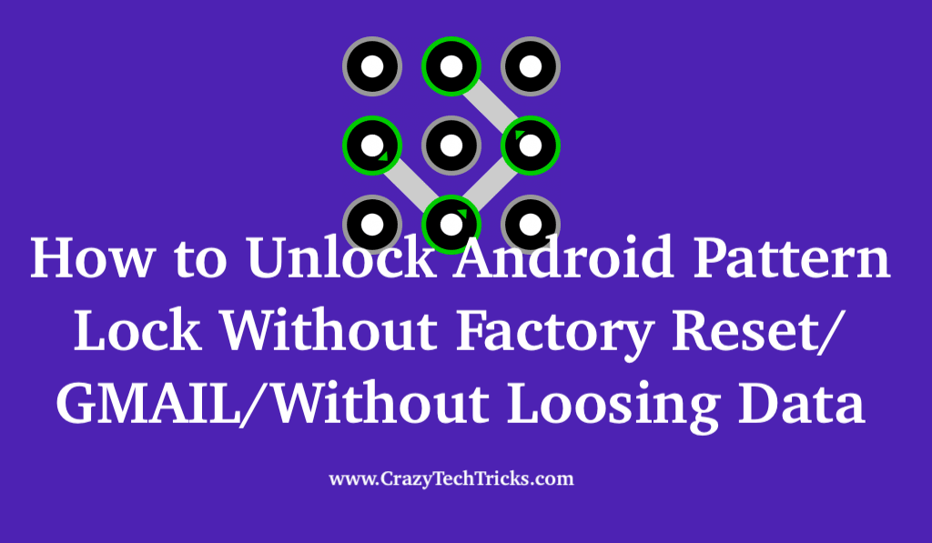 How to Unlock Android Pattern Lock Without Factory Reset/GMAIL/Without Loosing Data