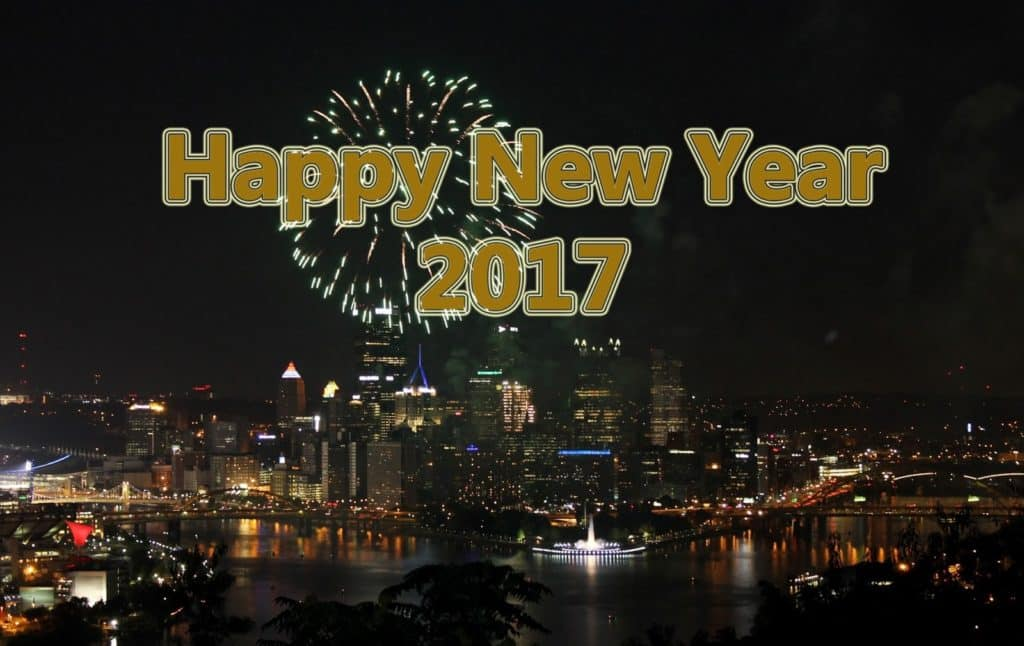 Happy New Year 2017 beautiful city
