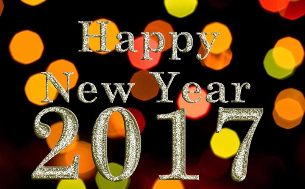 Happy New Year 2017 glamorous background