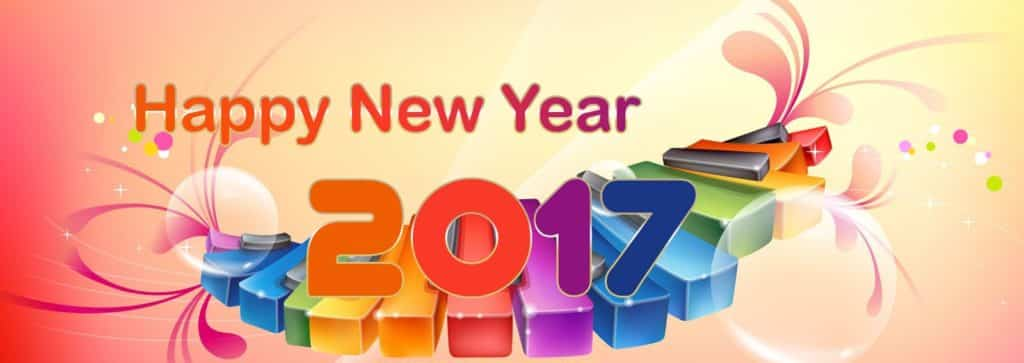 Happy New Year 2017 on piano keys