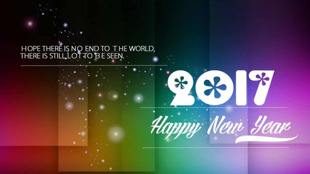 Happy New Year 2017 with beautiful background