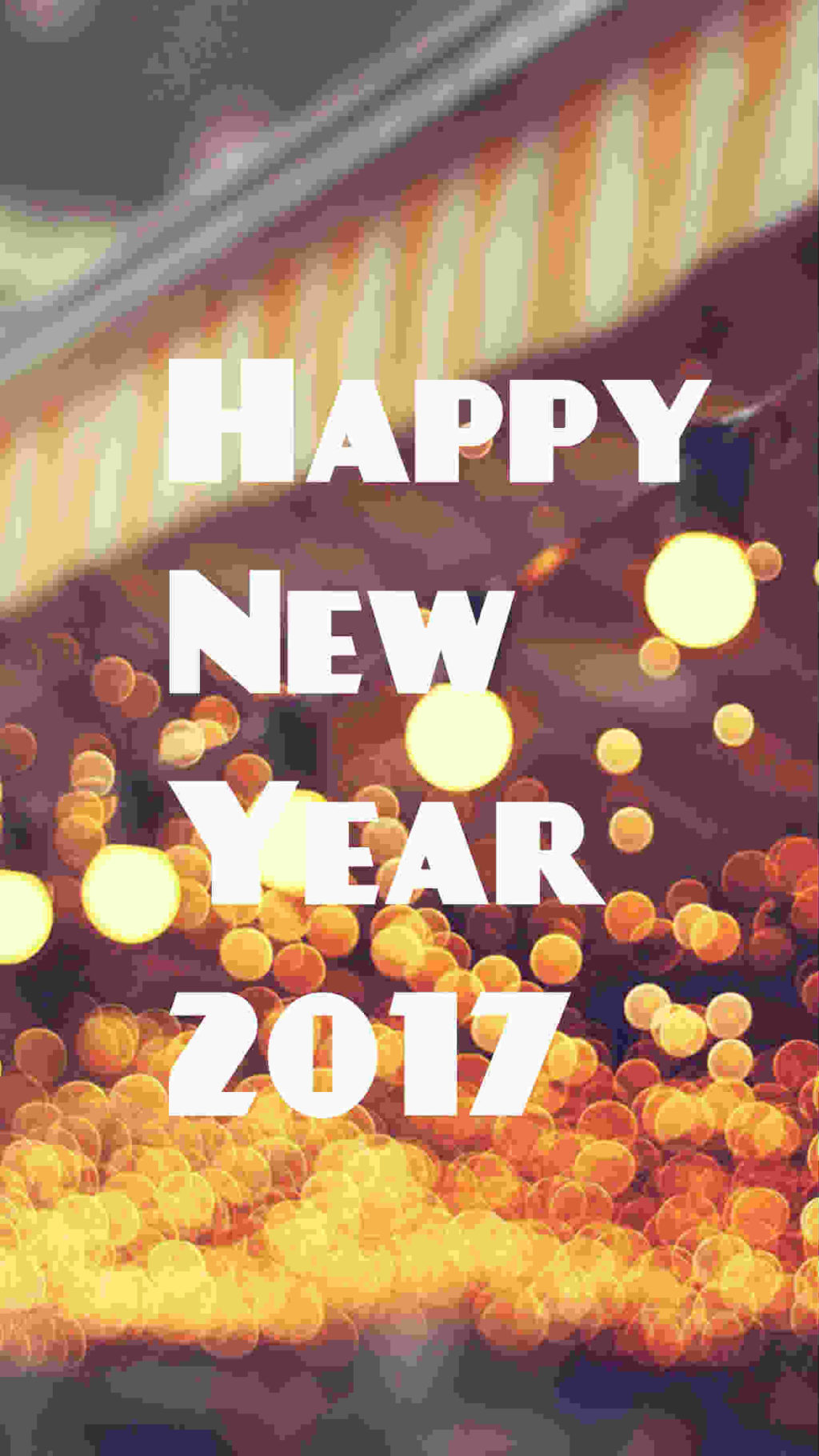 Happy New Year 2017 with glitter