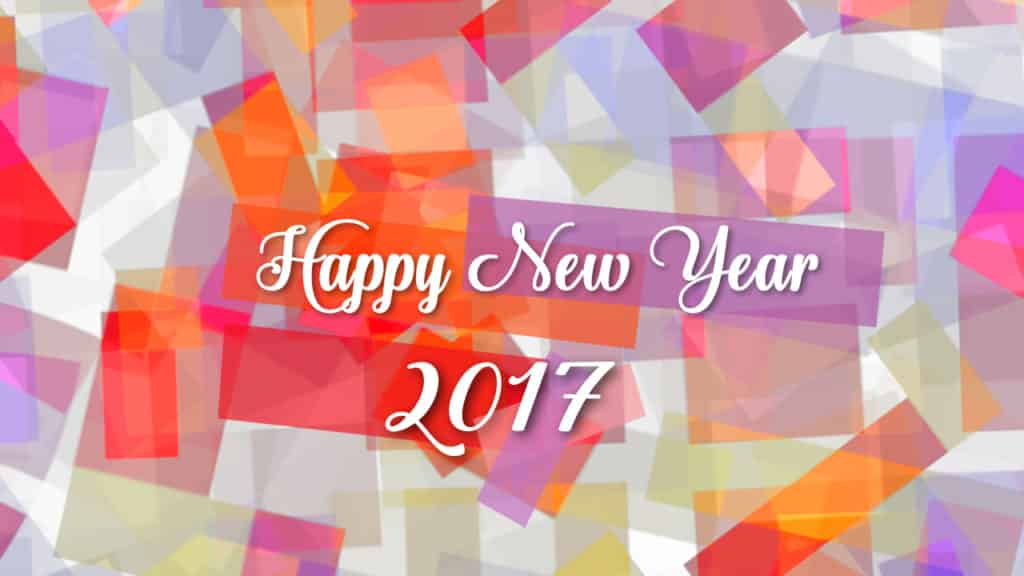 Happy New Year 2017 with multi color paper design