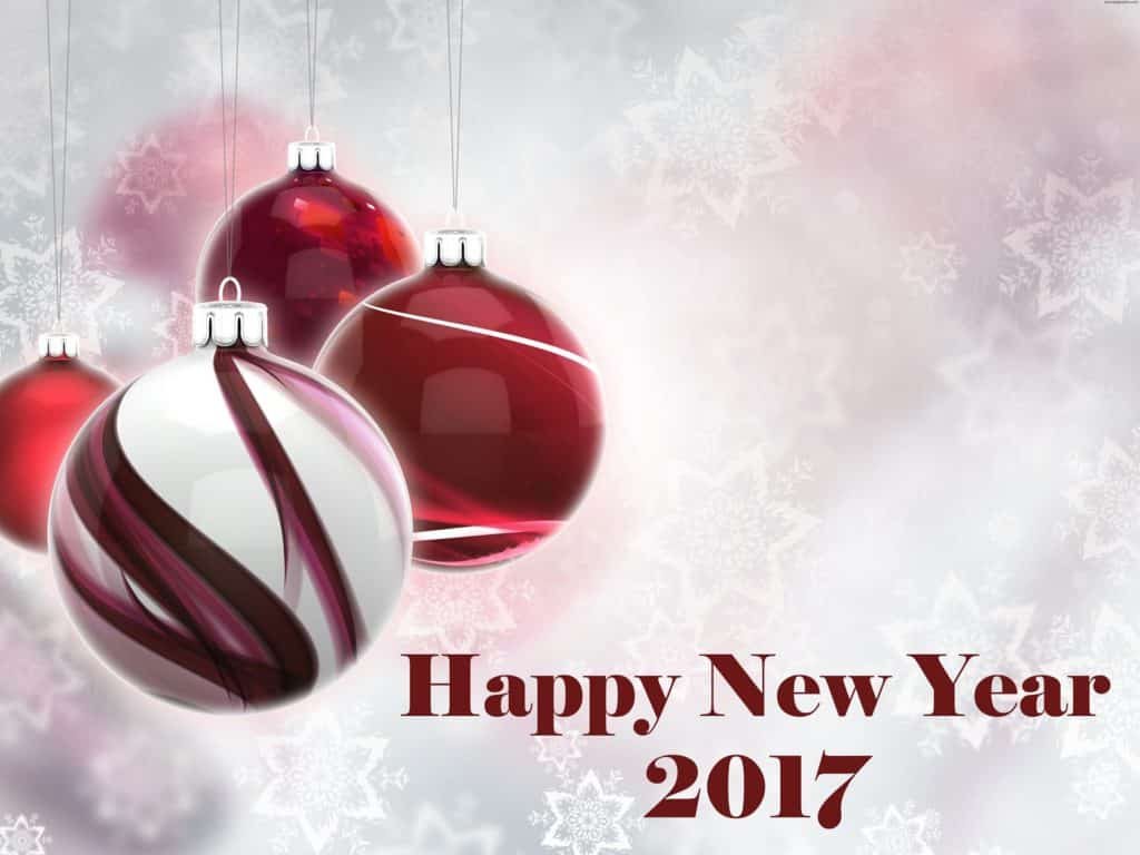 Happy New Year 2017 with x'mas balls