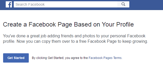 Merge-Convert Facebook Profile to Page