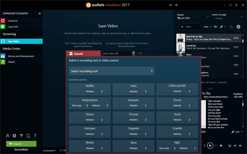 Record Your Favorite TV Series or Movies in HD Quality with Audials Moviebox 2017