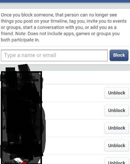 unblock someone