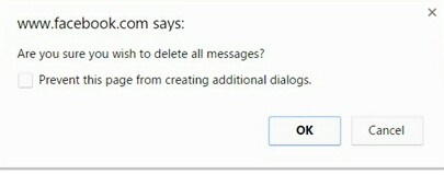 Facebook Delete All Messages Extension to delete all Facebook messages at once