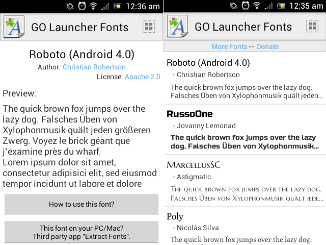 How to Change Font in Android using GO launcher Fonts