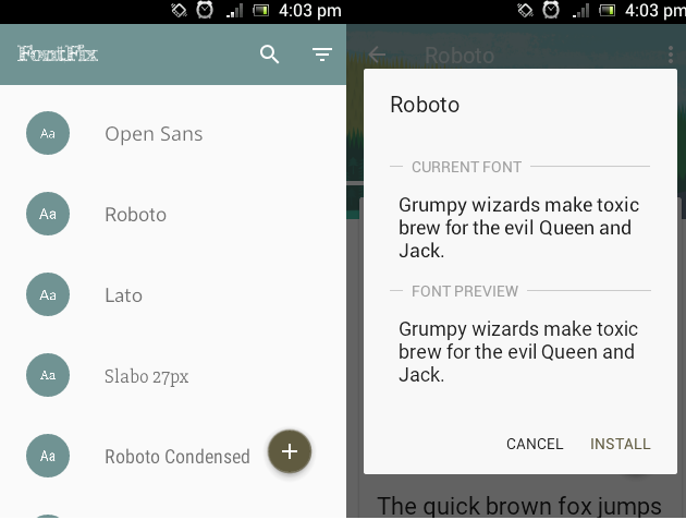 How to change font style in Android Kitkat, Lollipop, Marshmallow and Nougat (No Root)