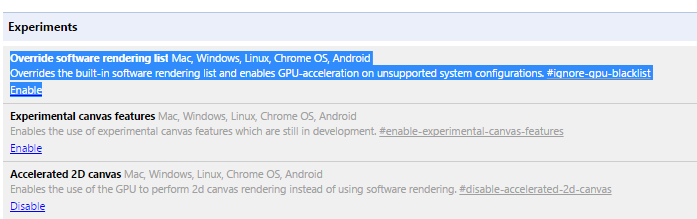 GPU Acceleration to make Google Chrome faster