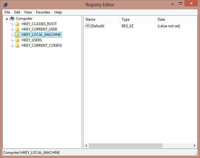 HKEY_LOCAL_MACHINE to Use Registry Method to Disable Fast User Switching On Windows 7, 8, 8.1 and 10