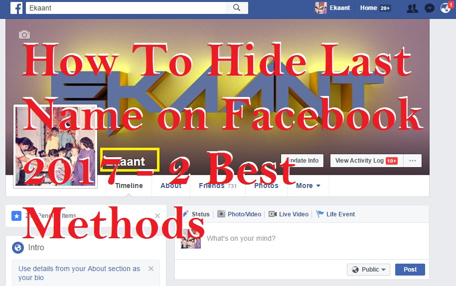 How To Hide Last Name on Facebook 2017 - 2 Best Methods