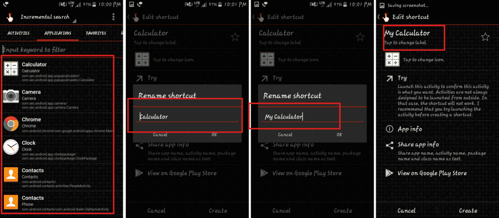 How to Change Icon Name in Android device