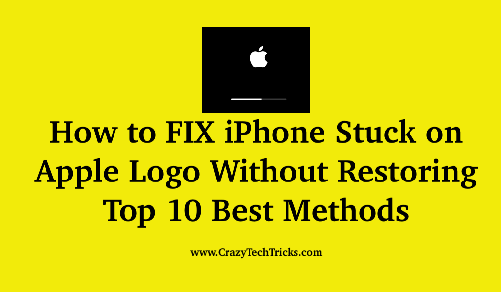 How to FIX iPhone Stuck on Apple Logo Without Restoring