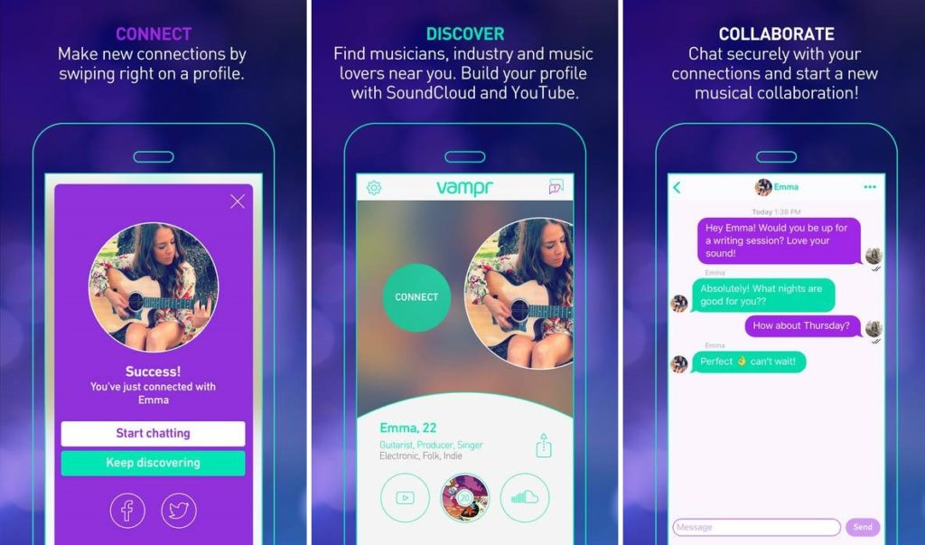 Vampr: An App for All Musicians & Music Lovers to Reach out to the Industry