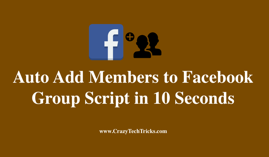 Auto Add Members to Facebook Group Script