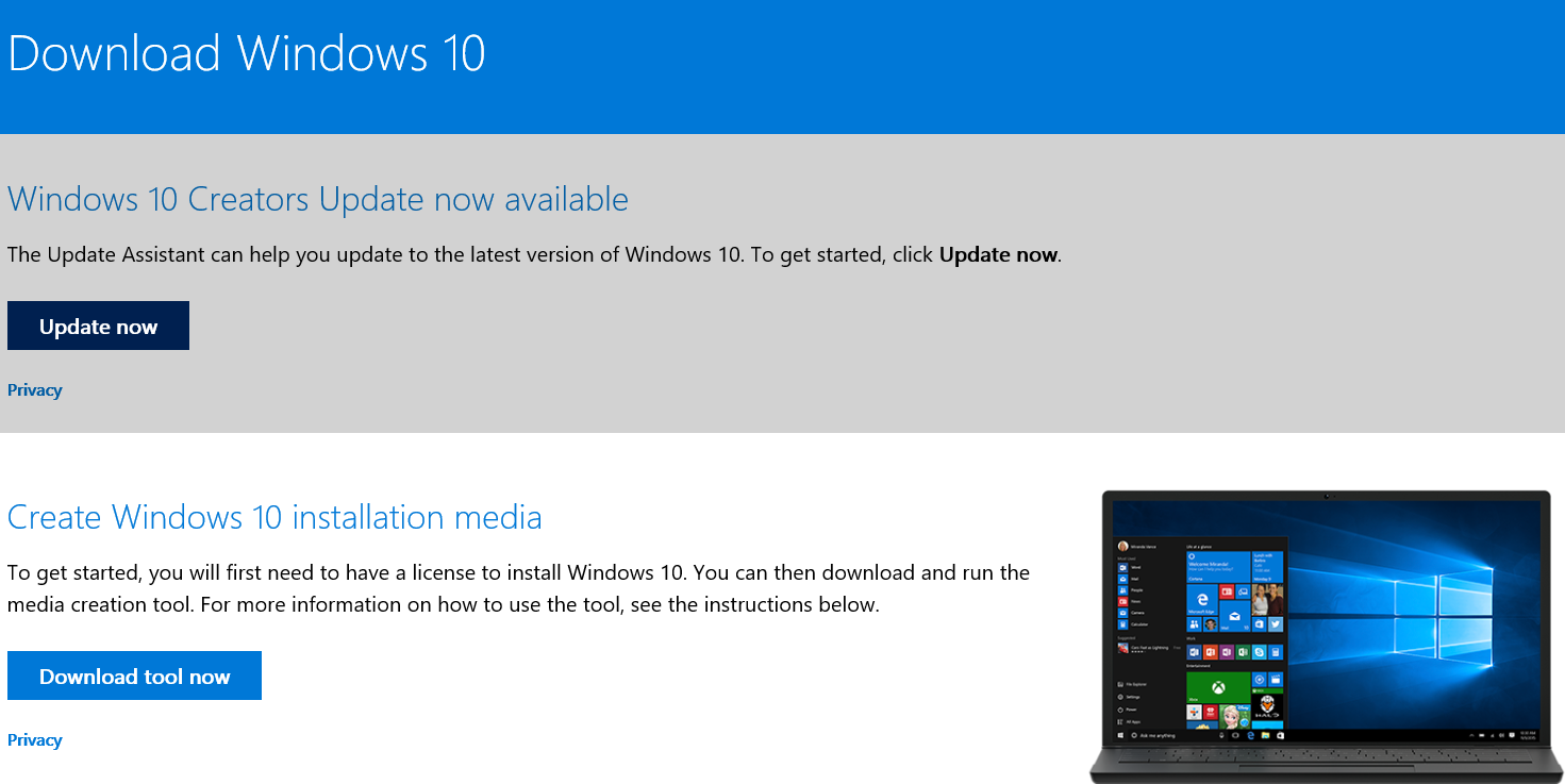 Download Windows 10 to Force Windows 10 Updates to latest Version