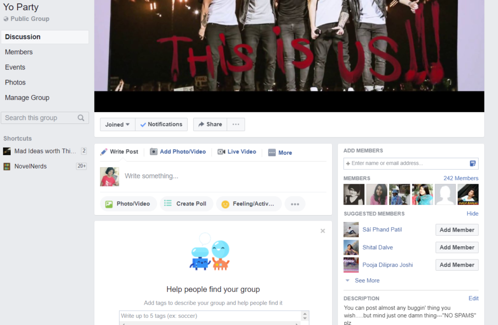 create a group to Auto Add Members to Facebook Group