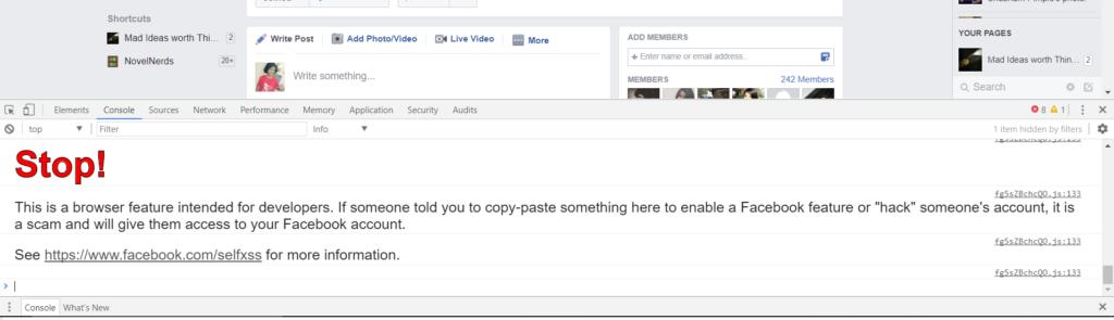 open the script f12 Facebook Group Members Adding Script