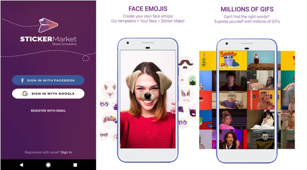 Sticker Market App Thousands of Emojis GIFs on your Fingertips
