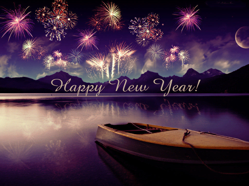 Happy New Year 2018 Best Artwork With Boat and Sea