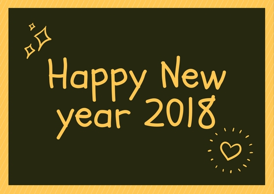 Happy New Year 2018 Best Chalk And Blackboard Work