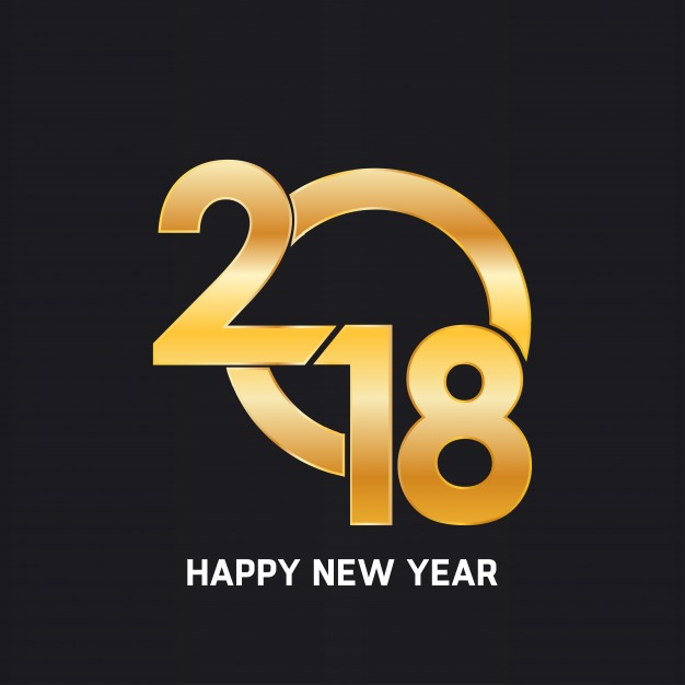 Happy New Year 2018 Creative and Awesome Design