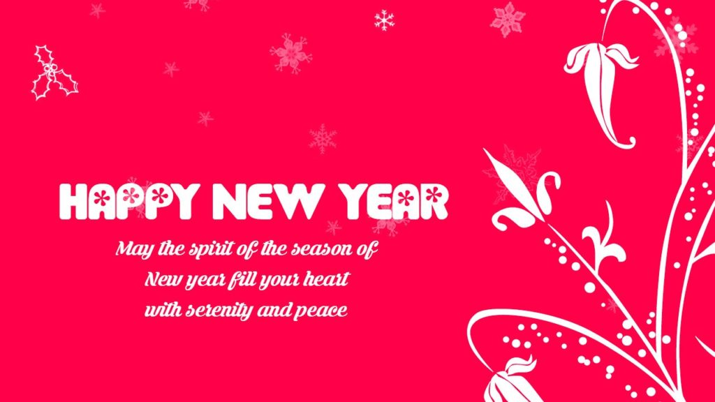 Happy New Year Pink Beautiful Creation